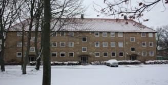 Etagehusene sne
